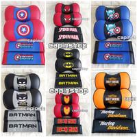 2IN1 BANTAL KULIT // Mobil Kulit Batman Spiderman Kapten Amerika