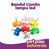 Collar Liontin Led / Bandul Kalung Lampu Anjing Kucing Hewan