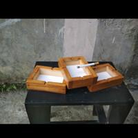 promo 3 asbak kayu jati minimalis-asbak ukuran 10x10-asbak kayu murah