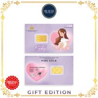 Emas Mungil (gift edition) - Logam Mulia LM Welcome Baby Purple 1gram
