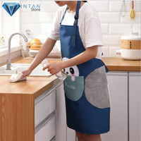 Kain Lap Apron Celemek Baju Masak Dapur Tangan Anti Air Minyak Premium