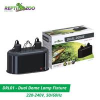 Reptizoo Dual Dome 2 x 150W - Fitting Lampu