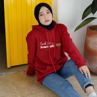 Sweater Hoodie Jumper Tarik Sisss.. Semongko - Semongko maroon, M ( ABG )