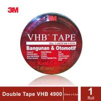 3M VHB Double Tape Automotive 4900 size 24mm x 4.5m -Double Tape Mobil