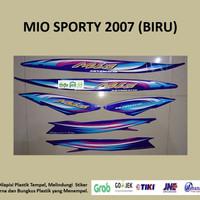 Mio sporty 2007 (biru) List Striping Stripping Stiker Sticker