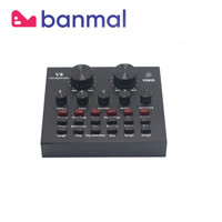 Soundcard V8 Mixer Audio Live Broadcast Microphone ASMR HiFi