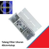 Top Filter / Talang Filter / Box Filter Aquarium Plus Tutup 40cm