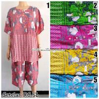 Piyama Setelan Batik Baju Tidur RC 5L HAP Busui Bigsize Jumbo 4