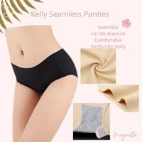 Kelly Panty - Celana Dalam CD Color Wanita Seamless Tanpa Jahitan - Biru Muda, L