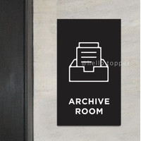 Sign Archive Room Acrylic Modern 15x25   Sign Board Ruang Arsip