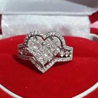 Cincin berlian dan emas original asli 100% made in hongkong