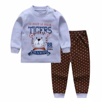 Baju Tidur Anak Import Cowok Laki-Laki Lengan Panjang Motif Macan