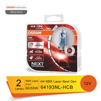 Osram Lampu Mobil H4 NBR Laser Next Generation H4 NBL - 64193NL-HCB