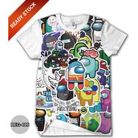 Baju Among Us Kaos Anak Cowok Dewasa Kaos Game Trend #REG-495