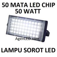 Lampu LED SOROT 50W Flood light FLOODLIGHT tembak 50 w watt outdoor HQ