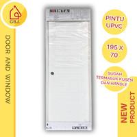 PINTU KAMAR MANDI UPVC 195 X 70 + HANDLE PINTU + KUSEN WINTA / PINTU