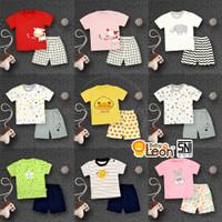 2in1 Setelan baju bayi Kaos Celana Pendek karakter BABY LEON SBJ-GY01