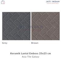 Keramik Lantai Kamar Mandi 25x25 cm Emboss Doff Asia Tile Galaxy