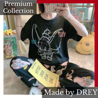 Piyama wanita set import spandeks premium motif tulisan - DUMBO HTM
