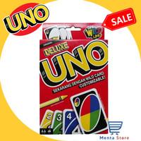 UNO Card MATTEL Deluxe Original (Get Wild 4 UNO) New Box Ori Kartu Fun