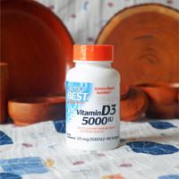 Doctor's Best Vitamin D3 (5000 IU) 180 Softgels