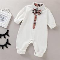 Baju jumper tuxedo bayi cewek cowok kembar branded Burberry import