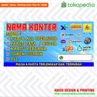 Spanduk Banner Konter Pulsa / Celluler