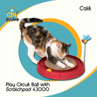 Catit Play Circuit Ball with Scratch Pad 43000 - Cat Toys