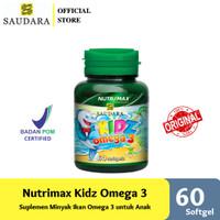 NUTRIMAX KIDZ OMEGA 3 60'S | VITAMIN ANAK DHA ANAK IMUN TUBUH AUTISME