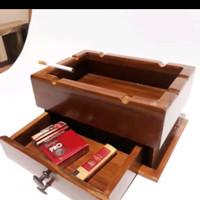 asbak kayu minimalis dengan lacu-asbak kayu murah