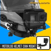 MotoVlog Helmet Chin Mount GoPro YI Osmo Action Cam Mounting Helm
