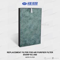 Replacement HEPA Filter for Air Purifier Sharp KC-A60 (FZ-A60HFE)