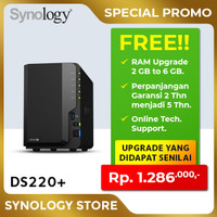 SYNOLOGY DS220+ NAS Network Storage 2Bay Backup Server Desktop Plus2
