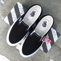 Vans Slip On Vault OG Summer Spring 2020 Black White (SS 2020) - 42.5
