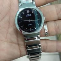 jam tangan pria Lobor quartz dial hitam klasik