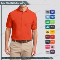 Baju Kaos Kerah Casual Polo Shirt Orange Polos