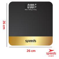 SPEEDS LX 040-3 Timbangan Badan Digital Indikator Kaca Scale Suhu
