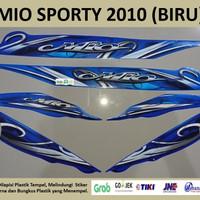 Mio Sporty 2010 Biru Motor Yamaha Stiker Striping Stripping Sticker