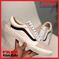 Sepatu Pria Wanita Vans Old School Marshmallow White Premium Import