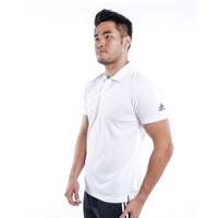 Baju Kerah Pria AD01 / Baju Olahraga / Polo Shirt - M, Putih