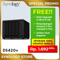 SYNOLOGY DS420+ NAS Network Storage 4Bay Backup Server Desktop Plus2