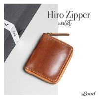dompet hiro zipper kulit asli / gratis ukir nama / garansi 100% kulit