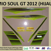 Mio Soul GT 2012 Hijau Motor Yamaha Stiker Striping Stripping Sticker