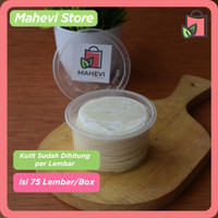 Kulit Dimsum / Gyoza / Dumpling Premium Hand Made 100% Halal isi 75 - Diameter 7 Cm