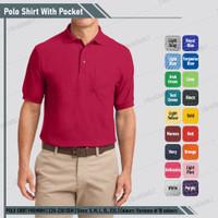 Baju Kaos Berkerah Polo Shirt Merah Polos / Polo T Shirt Kerah