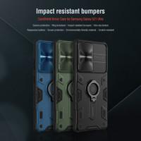 Case Samsung S21 Ultra S21 Plus NILLKIN Camera Cover Camshield Armor - S21 PLUS, Hitam