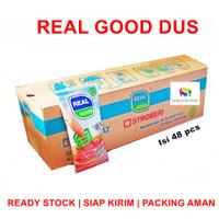 Real Good DUS Susu Bantal Chocolate / Strawberry / Sweet Cheese isi 48