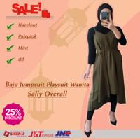 Jumpsuit Playsuit Baju Atasan Wanita Murah Sally Overall Terbaru