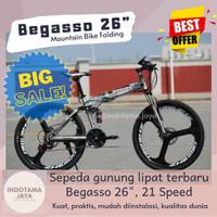 Sepeda Gunung Lipat Bagasso 26 Folding Bike
