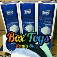 Masker SENSI CONVEX Mask 4ply evo plusmed earloop isi 20pcs